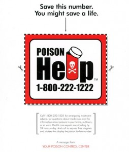 Download and print this Handy Poison Control Center Number!