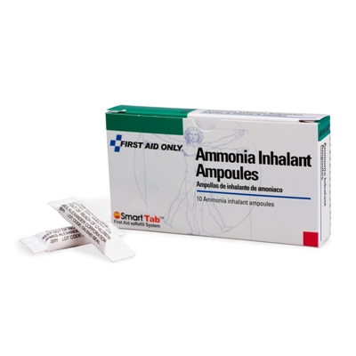 Ammonia Inhalants (2) Ammonia Inhalants (Smelling Salts) to Prevent or Treat Fainting. 15% Ammonia, 20% Isopropyl Alcohol.