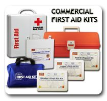 An image showing and assortment of commercial & OSHA First Aid Kits