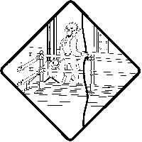 Suspended Scaffolding Safety Icon