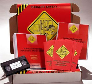 Forklift Safety Training, Videos, and Books: Forklift Safety information for Forklift Construction, General Industry & Compliance Kits in Spanish and English.