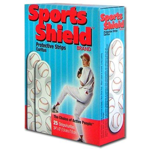 "The Sports Shield™ Baseball Bandages - 3/4"" x 3"" - 25 Per Box - Plastic"