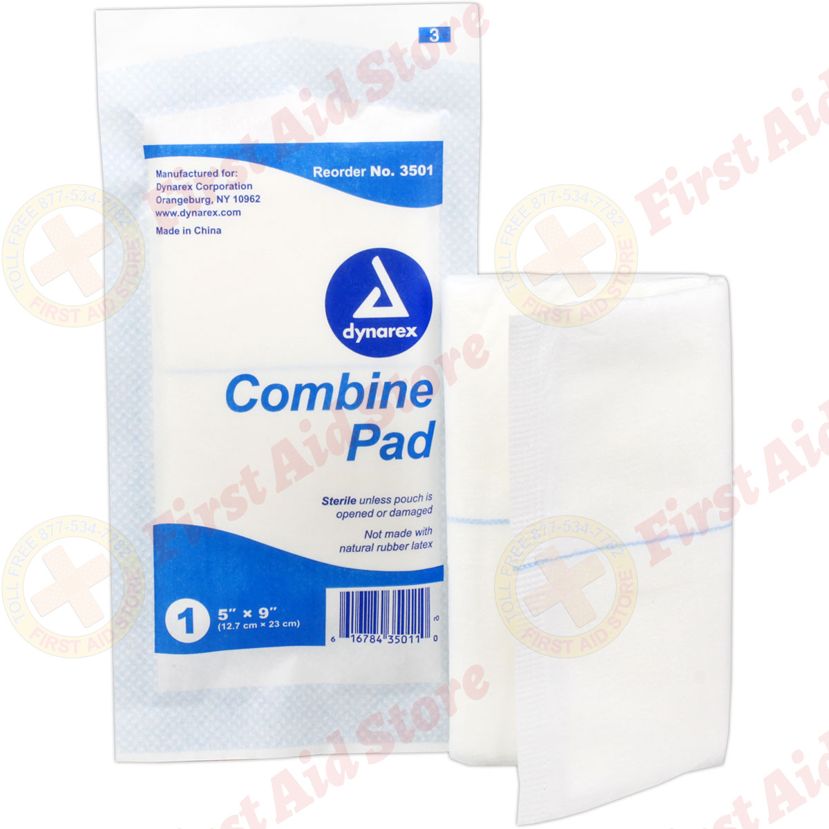 The First Aid StoreTM ABD Combine Pad 5 In X 9 Sterile
