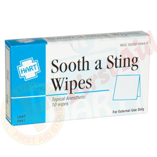 The Sting & Bite Relief Wipes, 10 per box