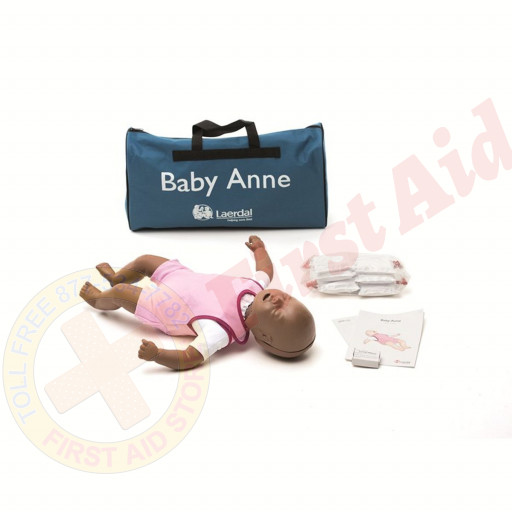 The Laerdal® Baby Anne - Infant CPR Mannequin - Dark Skin