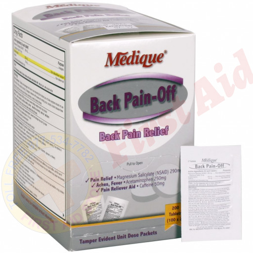 The Medique Back Pain-Off, 200/box