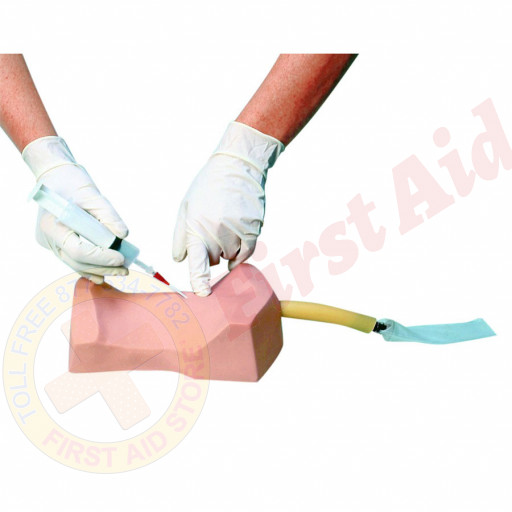 The Simulaids Cricothyrotomy Simulator with 4 Overlay Skins