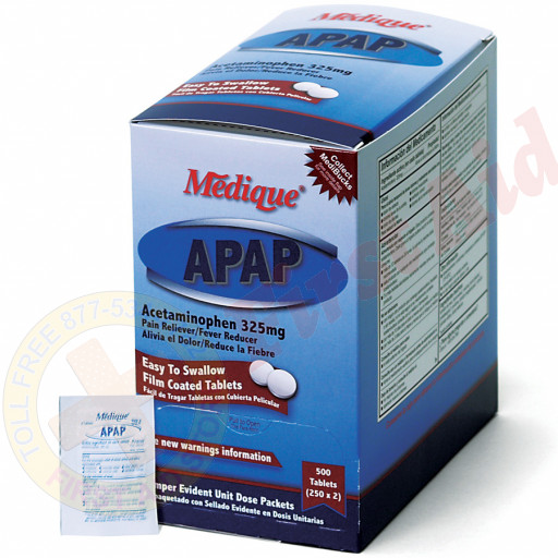 The Medique APAP, 500/box