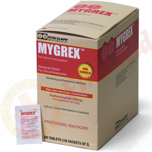 The Otis Clapp Mygrex - Advanced Headache Pain Relief, 300/box