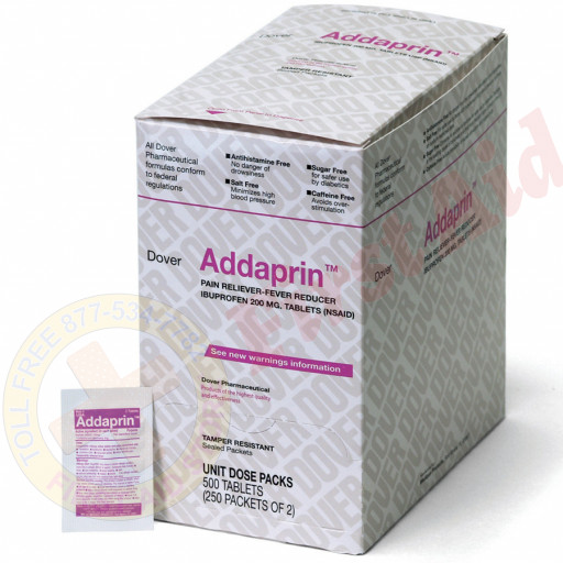 The Dover Addaprin - Ibuprofen 200mg, 500/box