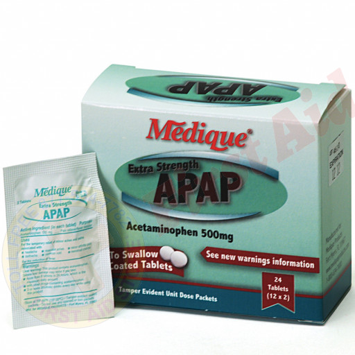 The Medique Extra Strength APAP, 24/box
