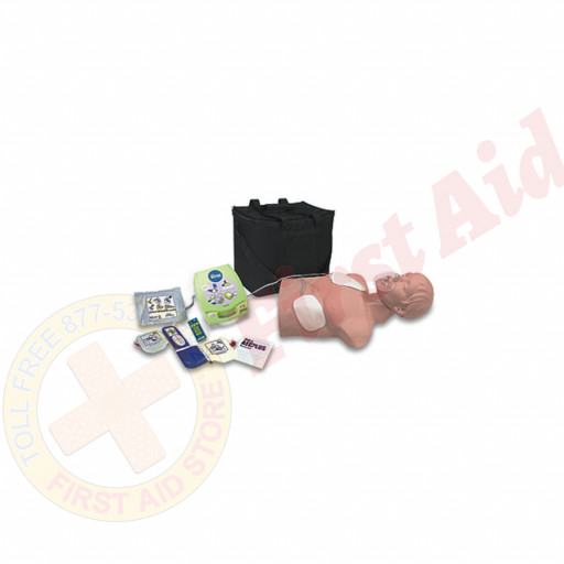 The Simulaids AED Trainer Package w/ Economy Adult Sani-Mannequin