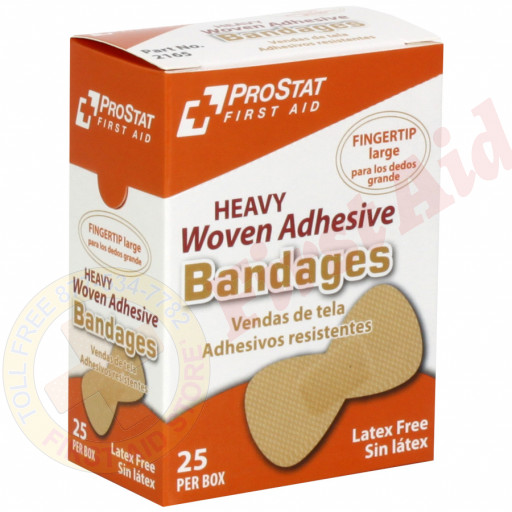 The Prostat First Aid Fingertip Woven Adhesive Bandages, 25 Per Box