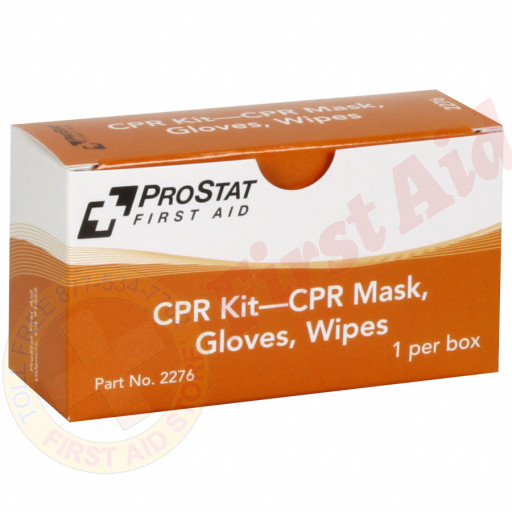 The Prostat First Aid CPR KIT – CPR Mask, Gloves, Wipes, 1 Per Box