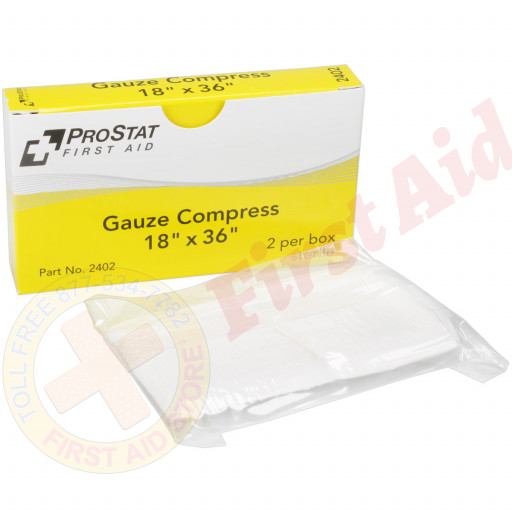 "The 18"" x 36"" Sterile Gauze Compress - 2 per Box"