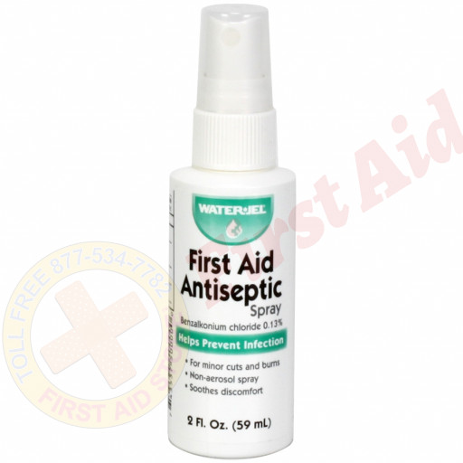 The Water-Jel First Aid Antiseptic Spray, bottle, 2oz.