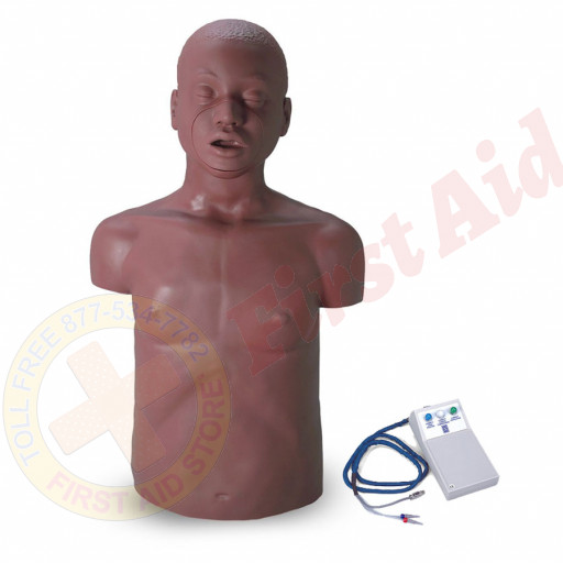 The Simulaids David African American Adult CPR Mannequin w/ Electronics