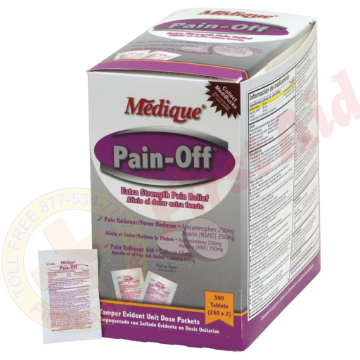 The Pain-Off by Medique Extra-Strength Pain Relief- 500/bx