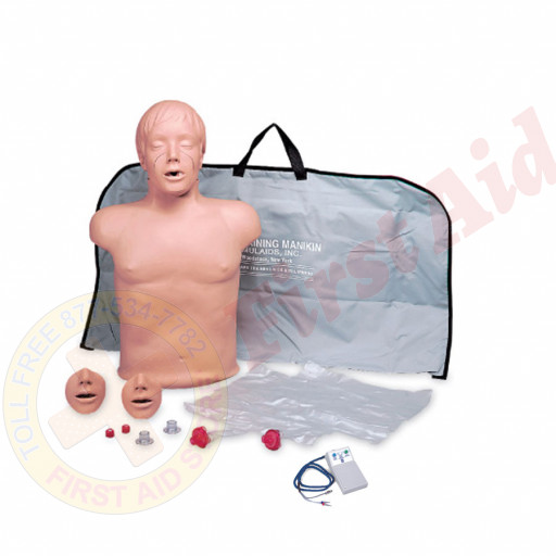 The Simulaids Brad CPR Training Mannequin w/ Electronics and Bag