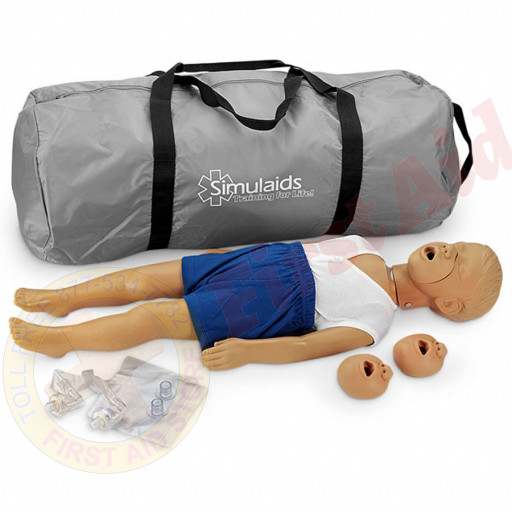 The Simulaids Kyle 3 Year Old CPR Mannequin - Caucasian