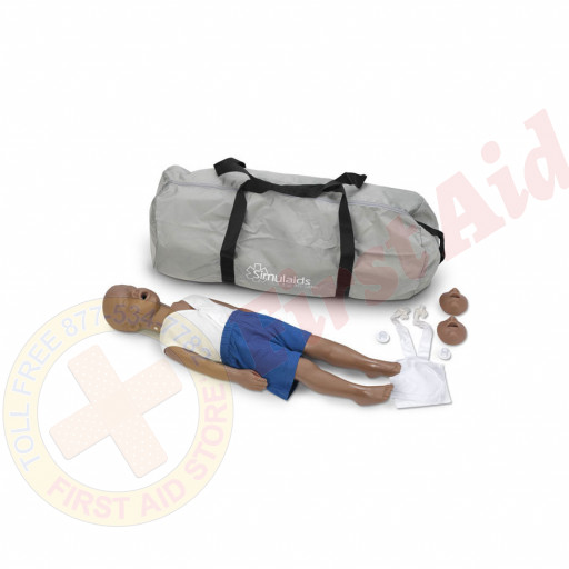 The Simulaids Kyle 3 Year Old CPR Mannequin - African-American