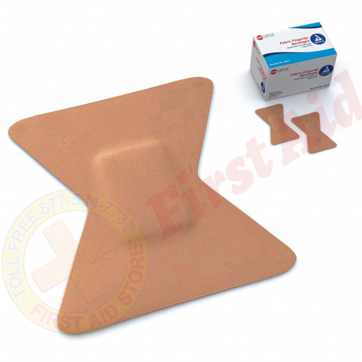 The First Aid Store™ Fingertip Bandage, Fabric - 100 Per Box