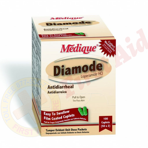 The Medique Anti-Diarrhea Tablets - 100 Per Box