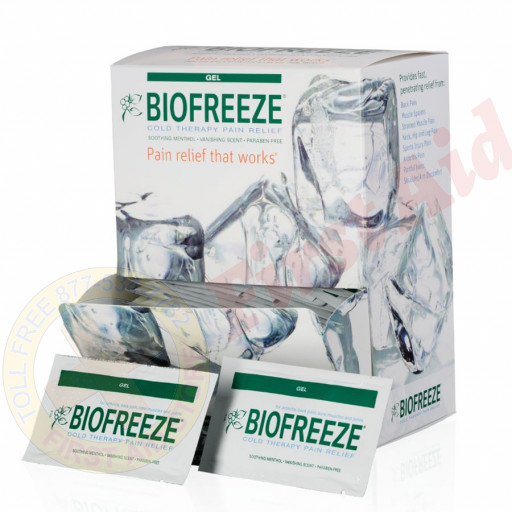 The Biofreeze Biofreeze Pain Relieving Gel, 5gm., 100/box