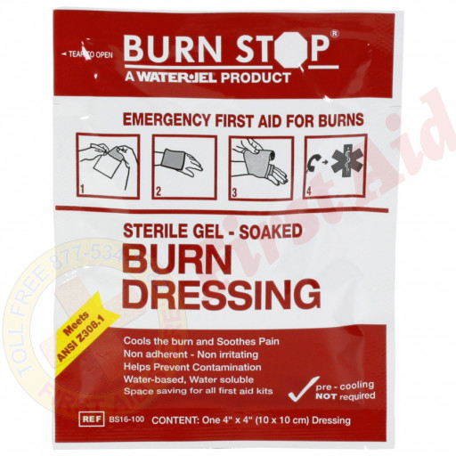 "The Water-Jel 4"" x 4"" Burn Stop Dressing"