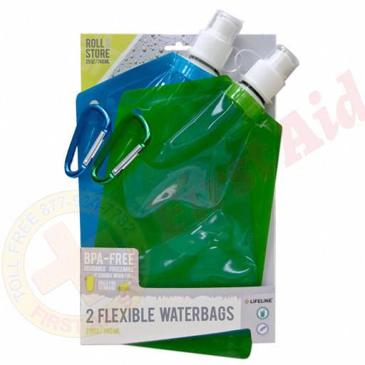 The Lifeline First Aid® 2-Pack Flexible Waterbags