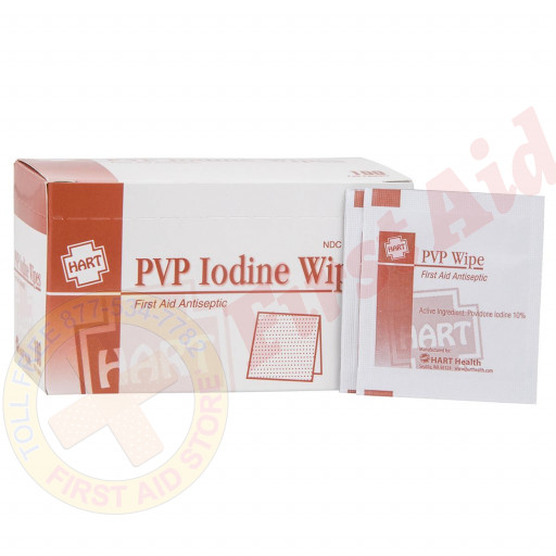 The Prostat First Aid PVP Iodine Wipes, 100 Wipes Per Box