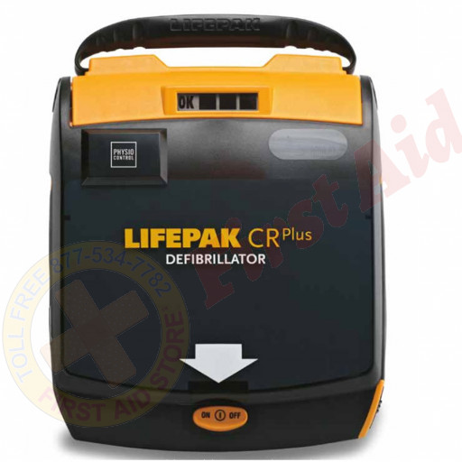 The Physio LIFEPAK CR Plus AED Kit Semi-automatic AHA voice prompt