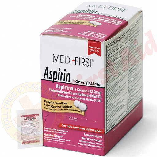 The Medi-First Aspirin, 500/box