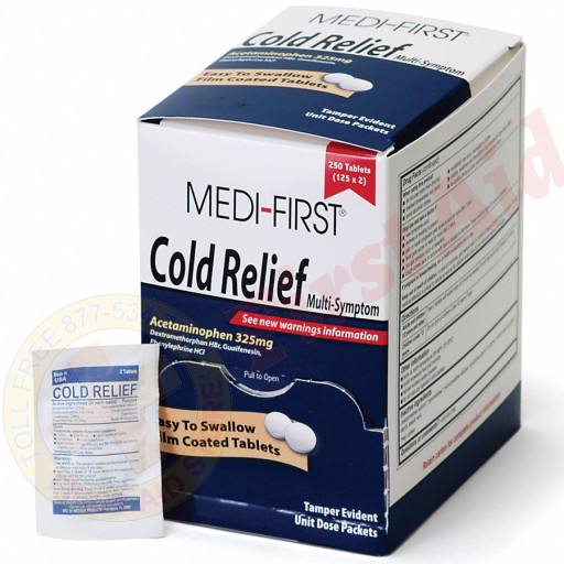 The Medi-First Cold Relief, 250/box