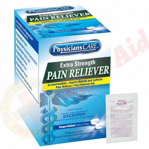 The PhysiciansCare Extra-Strength Pain Reliever Tablets - 250 Per Box