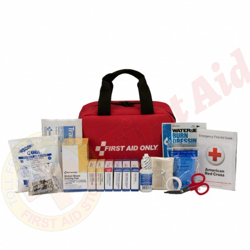 The First Aid Only 25 Person First Aid Kit, ANSI A, Fabric Case