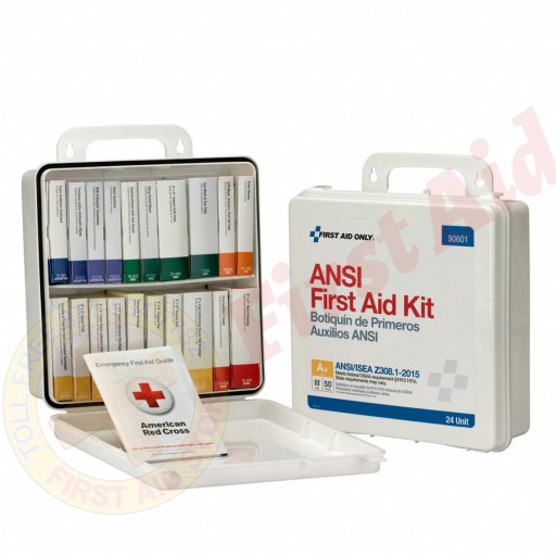 The First Aid Only 24 Unit First Aid Kit, ANSI A+,  Plastic Case