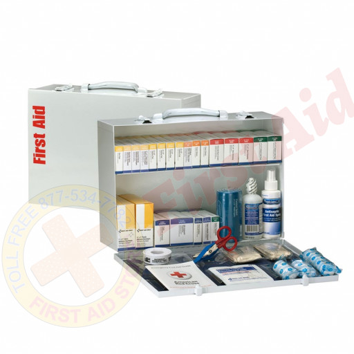 The First Aid Only 2 Shelf First Aid ANSI B+ Metal Cabinet
