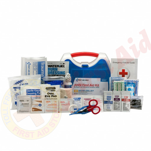 The First Aid Only 25 Person ReadyCare ANSI A First Aid Kit, Plastic Case