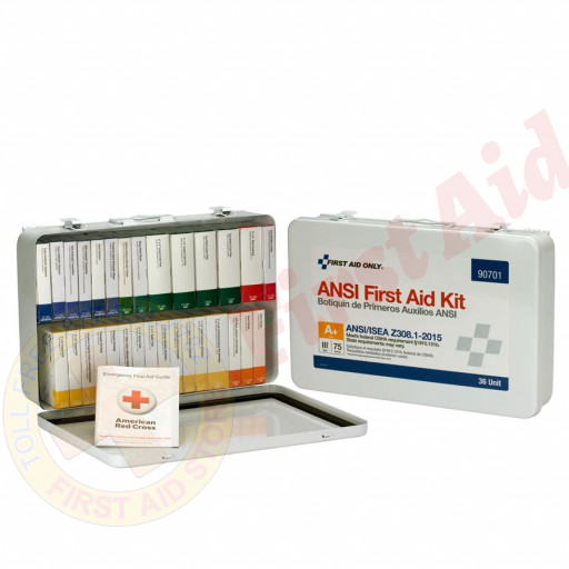 The First Aid Only 36 Unit First Aid Kit, ANSI A+,  Metal Case