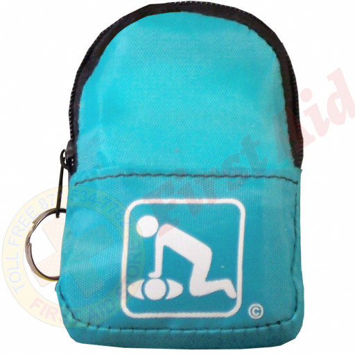 The American CPR Training™ CPR Light Blue BeltLoop/KeyChain BackPack