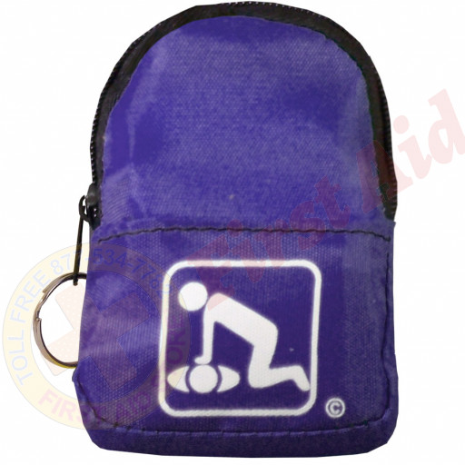 The American CPR Training™ CPR Purple Belt/KeyChain BackPack: Shield-Gloves-