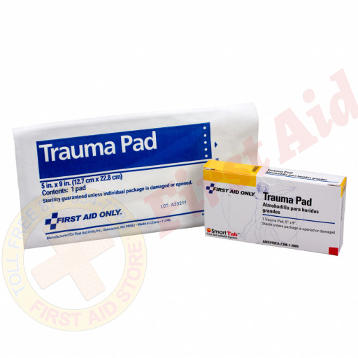 "The First Aid Only® Trauma Pad, 5""x9"" - 1 per box"