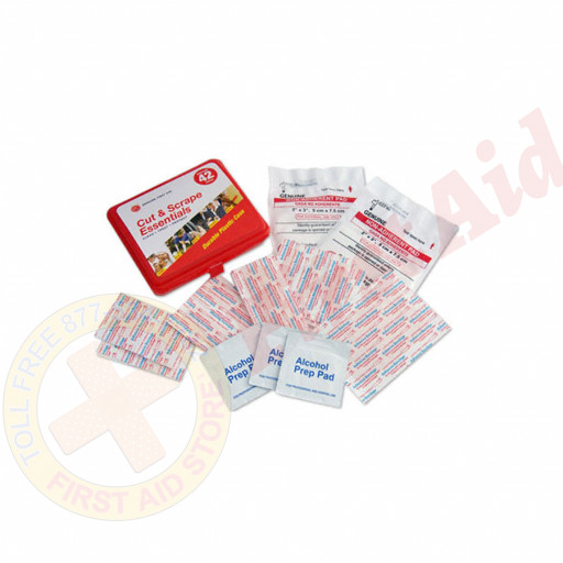 The Genuine First Aid®  First Aid Kit Model 42 Red - 42 pieces