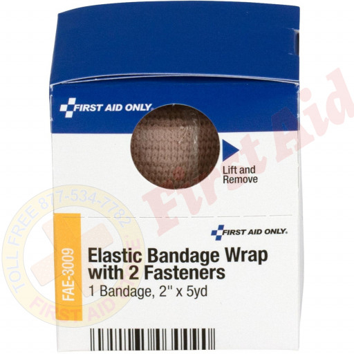 "The First Aid Only® 2"" x 5 Yd. Latex-Free Elastic Bandage, 1 Each - SmartTab EzRefill"