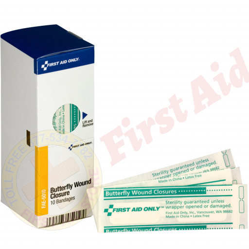 The First Aid Only® Butterfly Bandages, 10 each - SmartTab EzRefill