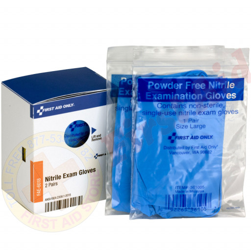 The First Aid Only® Nitrile Gloves, 2 Pair - SmartTab EzRefill