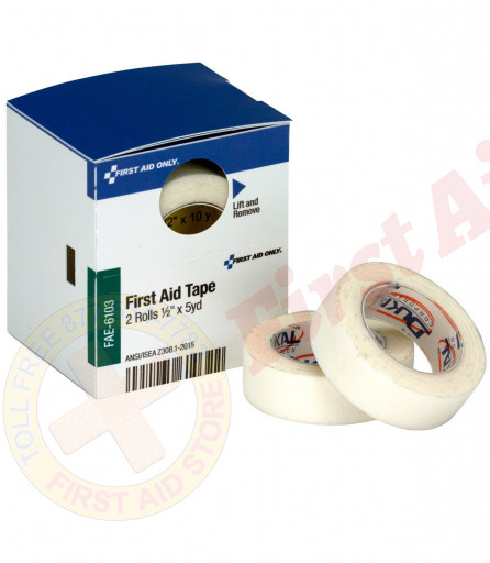 "The 1/2"" X 5 Yd First Aid Tape, 2 Per Box - SmartTab EzRefill"