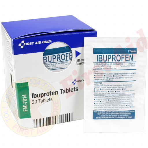 The First Aid Only® Ibuprofen Tablets, 20 Tablets - SmartTab EzRefill