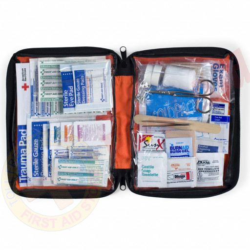 The First Aid Only® 205 Piece Outdoor Kit, Large Softsided Case - 1 Each
